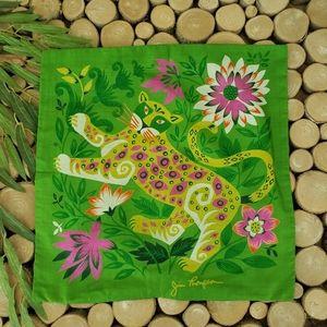 Vintage Jim Thompson Jaguar Silk Pillow Cover